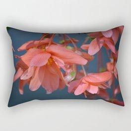 Trailing Red Begonia Rectangular Pillow