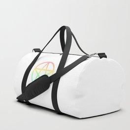 Rainbow Pentacle on White Duffle Bag