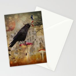 Raven in a City Stationery Cards