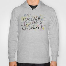 Stranger Things Alphabet Wall Christmas Lights Typography Hoody