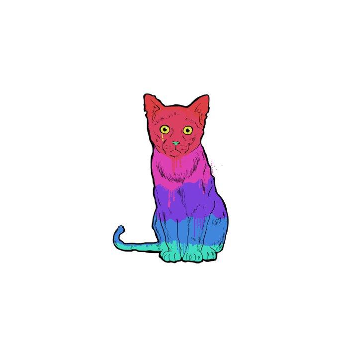 Graffiti Cat Duvet Cover