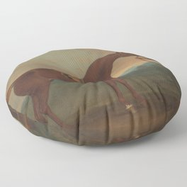 James Seymour - Old Fox held by a Groom Floor Pillow