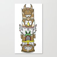 totem Canvas Prints featuring totem by ybalasiano