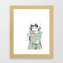 BubbleGirl Framed Art Print