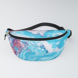 Red Blue Marble Fanny Pack
