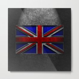 Union Jack Stone Texture Metal Print