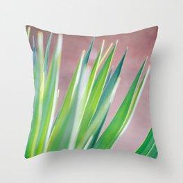 Green Plant Leaves - Botanical Nature - Boho Neutral Throw Pillow