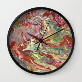 Abstract Oil Painting 4 Wall Clock