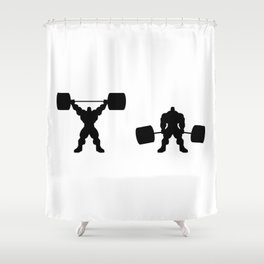 Heavy weight lifting up and down Shower Curtain