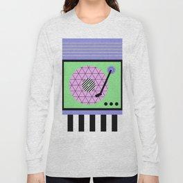 Play That Retro Geometric Vinyl Long Sleeve T-shirt
