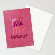 You are my favourite Stationery Cards