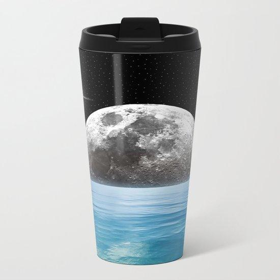 Moon Ocean Metal Travel Mug