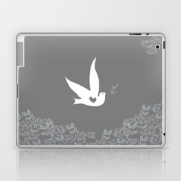 Love and Freedom - Silver/Gray Laptop & iPad Skin