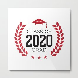 Class of 2020 Senior Graduation Design Metal Print