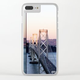 Reflections of the Bay Bridge Clear iPhone Case