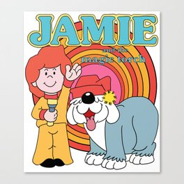 Jamie and the magic torch! Canvas Print