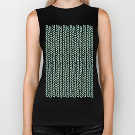 Knit Wave Mint Biker Tank