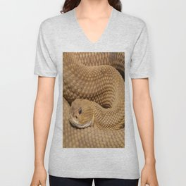 Brown Rattlesnake  Unisex V-Neck