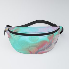 Abstract Holographic Iridescent Art 10 Fanny Pack
