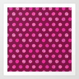 Patterned Dots Art Print