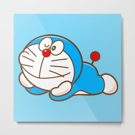 Doraemon cute smile Metal Print