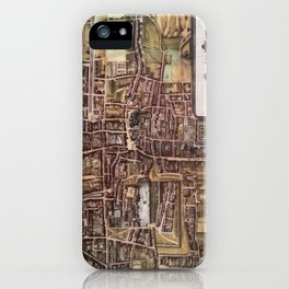 Replica city map of The Hague 1649 iPhone Case