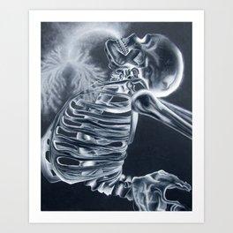 Breathing X-Rays Art Print