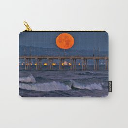 Christmas Moonset Huntington Beach Pier  12/25/15 Carry-All Pouch