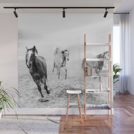 Running with the horses Wall Mural