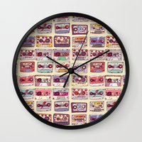 records Wall Clocks featuring Nobody's records by kubizm