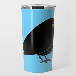 Cute Blackbird With A Christmas Ball Travel Mug