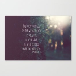 Zephaniah 3 Mighty Save Canvas Print