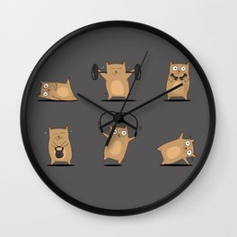 FITNESS CAT Wall Clock