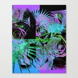 Blue Purple Roses Canvas Print