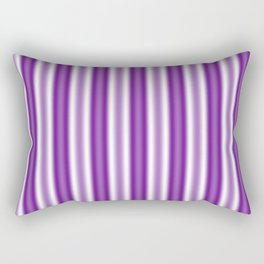 Purple and White Stripes Rectangular Pillow