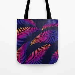 Neon Leaves Tote Bag