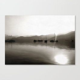 Gulets In Greyscale Canvas Print
