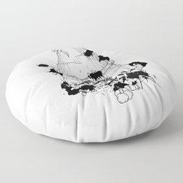 Flores de plastico Floor Pillow