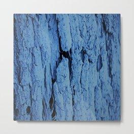 Old Bark - Blue Metal Print