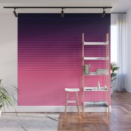 Eggplant Purple Pink Ombre Stripes Wall Mural