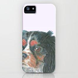 Cavalier King Charles Spaniel , Jiri Bures original art and design iPhone Case