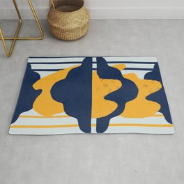 Lines and clouds Rug