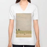 farm V-neck T-shirts featuring Farm by Pure Nature Photos