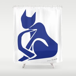 Henri Matisse - Le Chat Bleu (Blue Cat) Artwork - Prints, Posters, Tshirts, Bags, Mugs, Men, Shower Curtain
