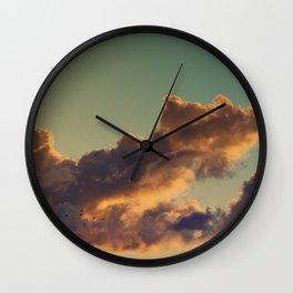 Geese at Sunrise Wall Clock