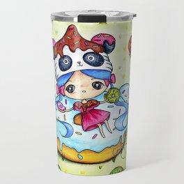 Panda Donut Girl Travel Mug