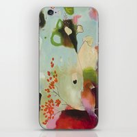 """flora bowley iPhone & iPod Skins featuring """"Deep Embrace"""" Original Painting by Flora Bowley by Flora Bowley"""