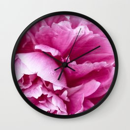 Alluring ~ Pink Peony Wall Clock