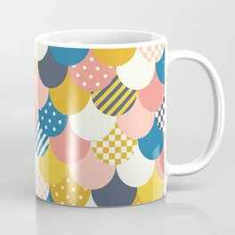 Mermaid Quilt in Yellow + Blue Coffee Mug