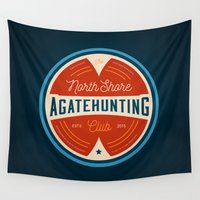 hunting Wall Tapestries featuring North Shore Agate Hunting Club  by RyanSupalla